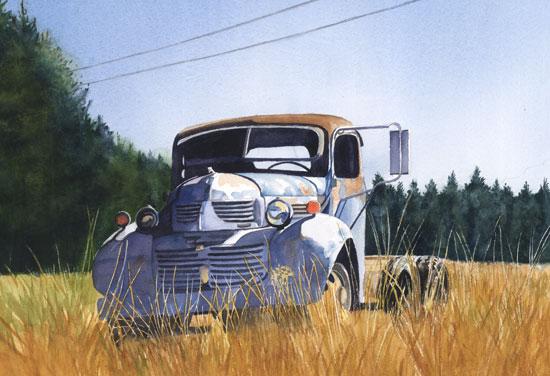 Old Blue Pickup